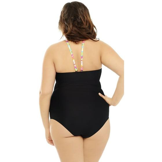 1c01835b38 Costa Del Sol - Plus Size Rainbow Blast One Piece Swimsuit