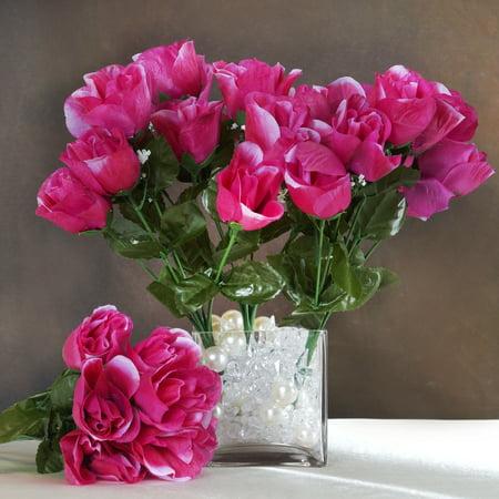 BalsaCircle 84 Silk Buds Roses Bouquets - DIY Home Wedding Party Artificial Flowers Arrangements Centerpieces for $<!---->