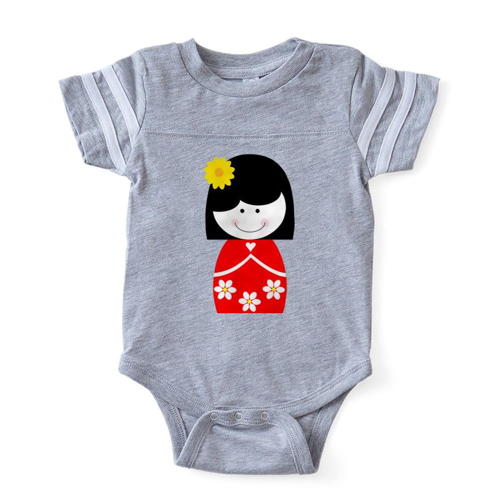 ad27b2aa7 CafePress - Asian Girl - Cute Infant Baby Football Bodysuit - Walmart.com