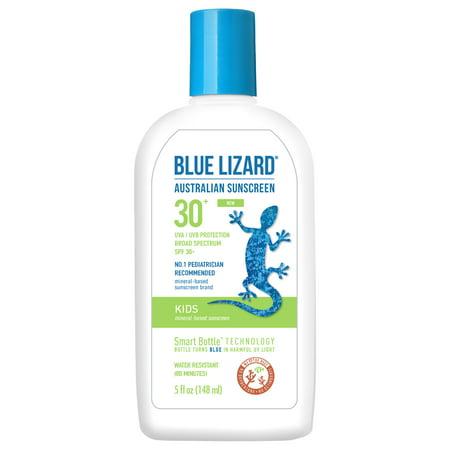 Blue Lizard Australian Sunscreen, Kids, Broad Spectrum SPF 30+, 5 (Alba Botanica Facial Mineral Broad Spectrum Spf 20)