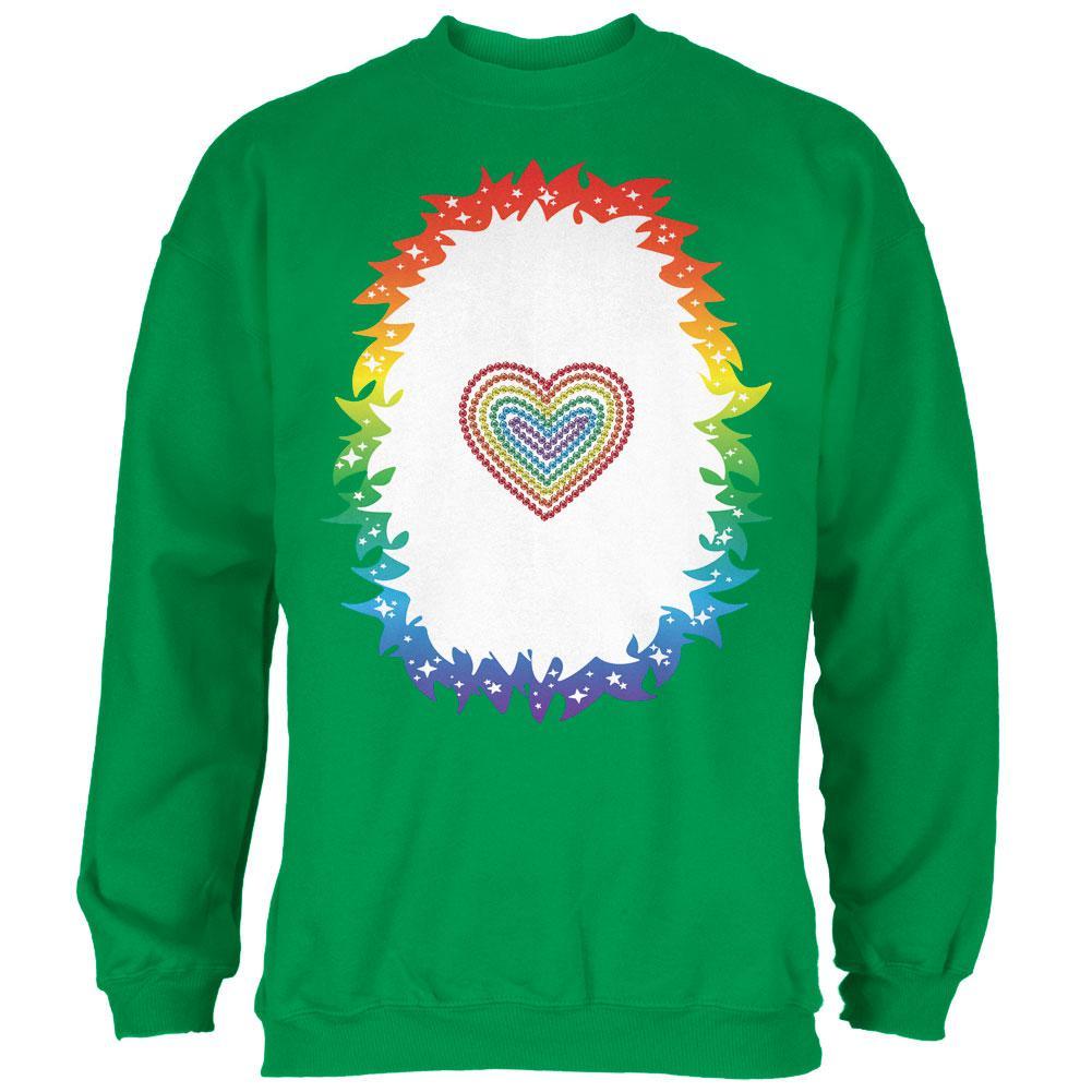 Halloween Rainbow Heart Unicorn Costume Pony Mens Sweatshirt