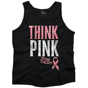Breast Cancer Awareness Shirt | Think Pink Pray for Cure Hope Tank Top Shirt