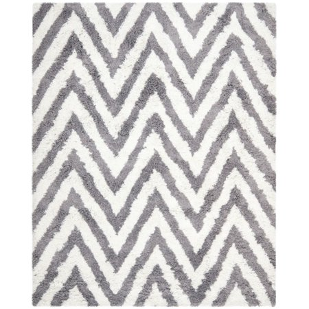 Safavieh Shag 5' Square Hand Tufted Acrylic Rug in Ivory and Gray - image 3 of 3