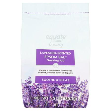 Equate Beauty Lavender Scented Epsom Salt Soaking Aid  1 5 Lb