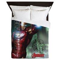 CafePress - Avengers Invincible Iron Man - Queen Duvet Microfiber