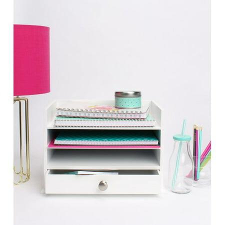 Uniek Francesca Decorative Wood Letter Tray Desktop Organizer