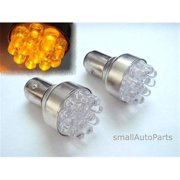 SmallAutoParts Yellow 1157 12-Led Bulbs - Set Of 2