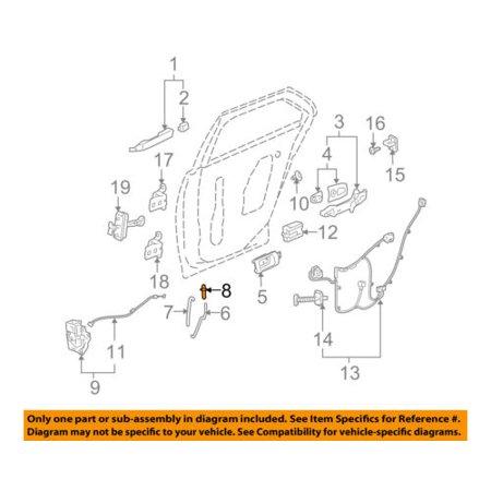 Cadillac GM OEM 05-11 STS-Door Lock Knob Post Pin