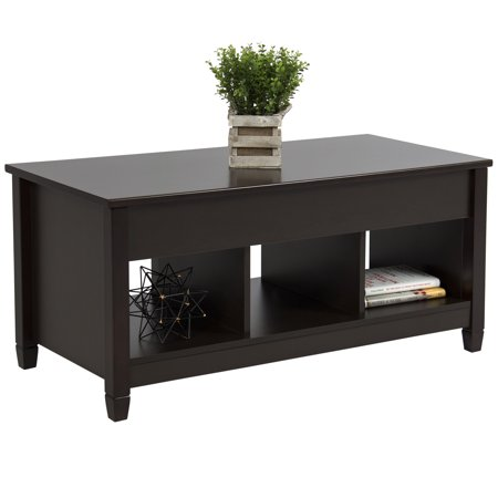 Best choice products home lift top coffee table modern for Furniture w hidden compartments