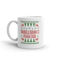 Funny Humor Novelty Upside Down Stranger Things Christmas Ceramic 11 oz Coffee Tea Mug