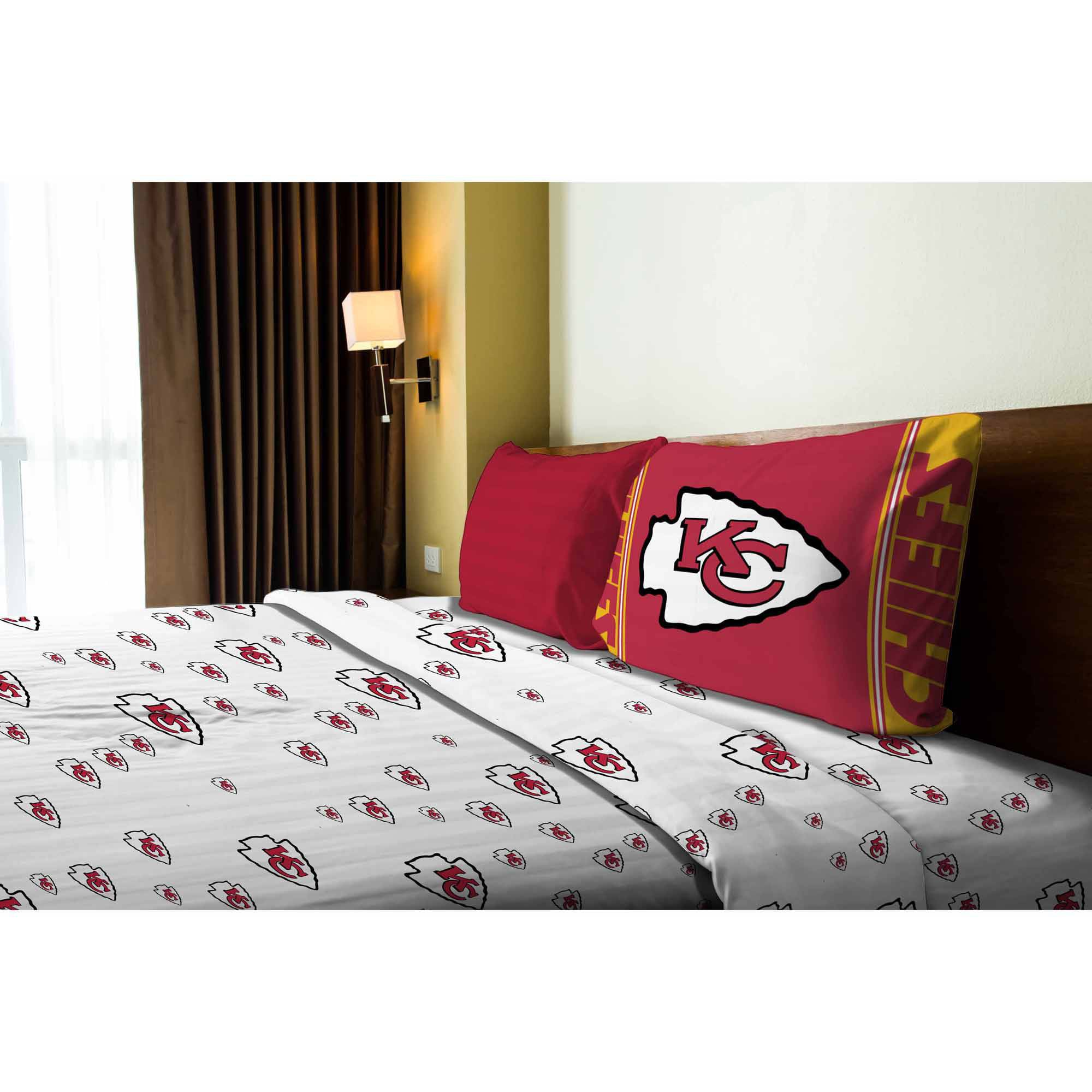 Nfl Kansas City Chiefs Twin Sheet Set