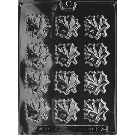 Leaf Molding - Maple Leaves Chocolate Mold - F078 - Includes Melting & Chocolate Molding Instructions