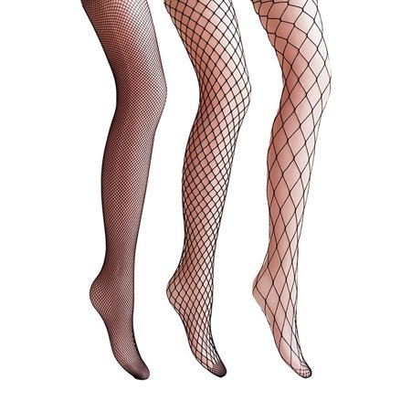 4085adf98 TrendsBlue - TrendsBlue 3 Pack Fishnet Stockings Tights Stretchy Mesh  Pantyhose - Walmart.com