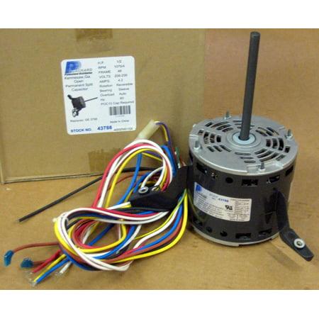 3788 A/C Motor 1/2 HP 230 V 1075 RPM for Goodman Janitrol B13400353S (20 Hp Motor)