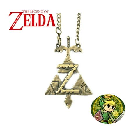 Legend of Zelda Necklace Pendant - Bronze Triforce - Video Games Cosplay Jewelry by Superheroes - Cosplay Legend Of Zelda