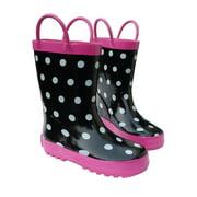 Foxfire FOX-600-92-12 Childrens Black & White Rain Boot - Size 12