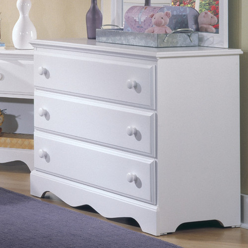 Bundle-46 Carolina Furniture Works, Inc. Carolina Cottage 3 Drawer Dresser (2 Pieces)