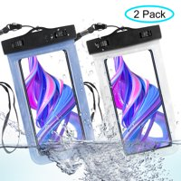 """Universal Waterproof Case, TSV Cellphones Dry Bag Pouch for iphoness X, 8/7/7 Plus/6S/6/6S Plus, Samsung Galaxy S9/S9 Plus/S8/S8 Plus/Note 8 6 5 4, Google Pixel 2 HTC LG Sony MOTO up to 6.2"""""""