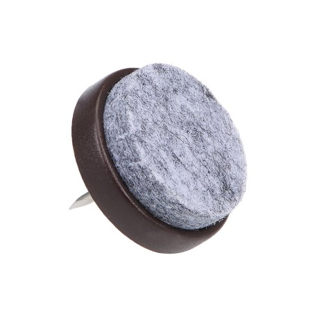 Nail On Furniture Felt Pads Glide Chair Table Leg Protector 28mm Dia Brown 26pcs - image 4 of 5