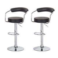 Joveco 360 Degree Swivel Adjustable Round Seat Bar Stool - Set of 2