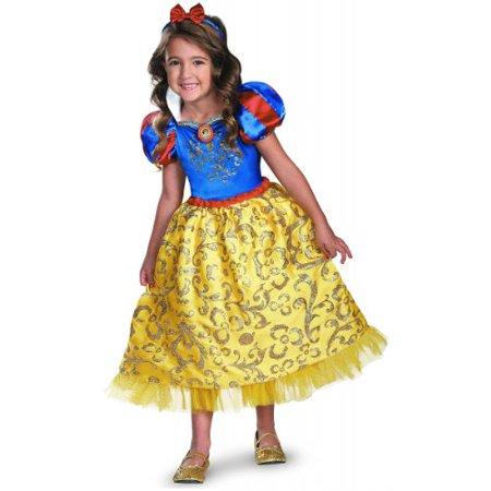 Disguise Disney's Snow White Sparkle Deluxe Girls Costume, - Snow White Girls Costume