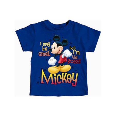 Disney Toddler Mickey Mouse I May Be Small but I'm the Boss 2T Tee](Disney Halloween Tee)