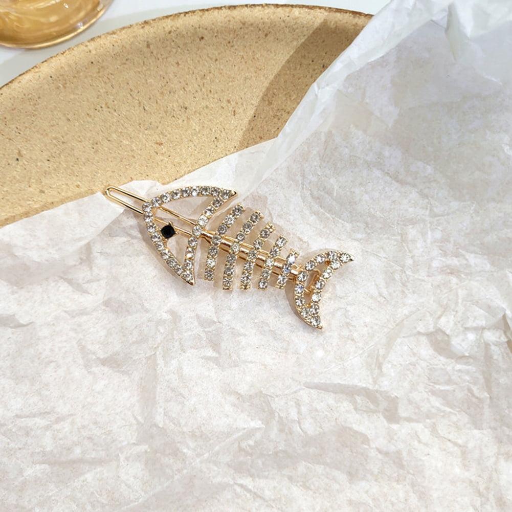 JIACUO Fish Shape Hair Claw Clips Banana Barrettes Hairpins Hair Accessories For Women