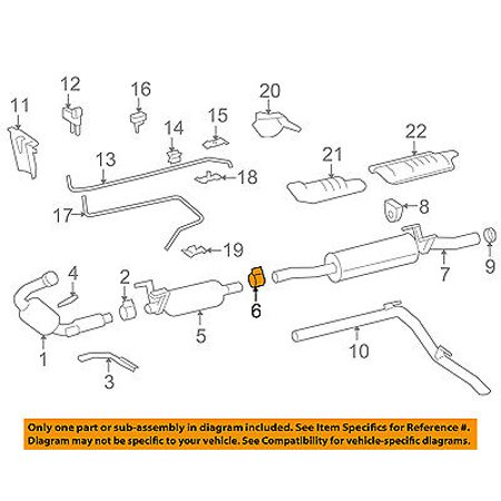 dodge chrysler oem 07-08 sprinter 2500 3 0l-v6 exhaust-filter clamp  68012081aa - walmart com