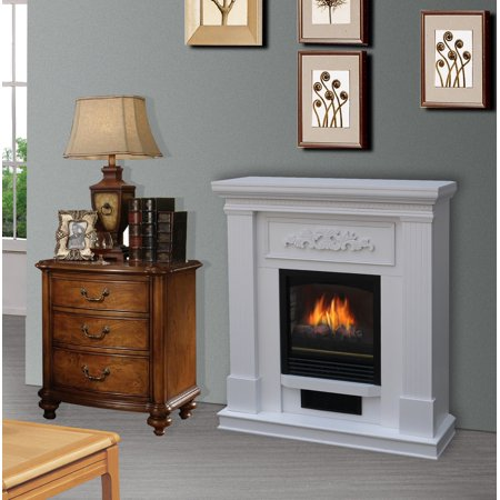 Bold Flame 38 inch Wall/Corner Electric Fireplace in White - Fire & Flames