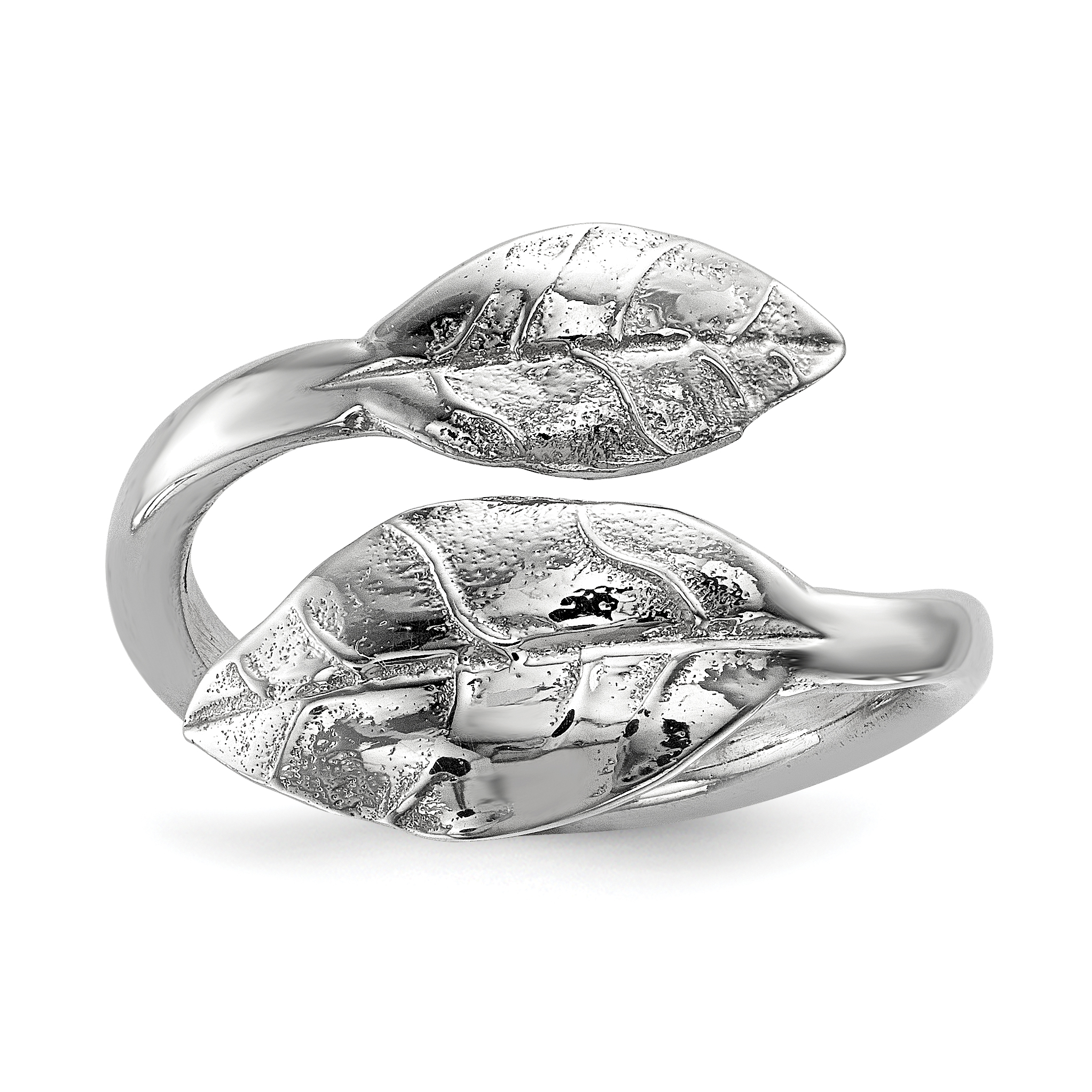 925 Sterling Silver Leaf Band Ring Size 8.00 Flowers/leaf Fine Jewelry Gifts For Women For Her - image 2 de 2