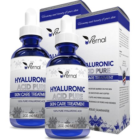 2 Pack Hyaluronic Acid for Skin - 100% Pure Medical Quality Clinical Strength Formula - Anti aging formula (2 (Quality Skin)