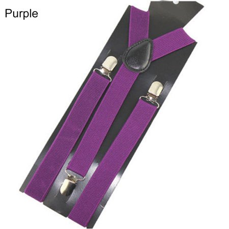 Aofa Unisex Elastic Y-Shape Braces Men\'s Women\'s Adjustable Clip-on Suspenders - image 3 de 7