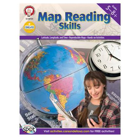 Map Reading Skills, Grades 5 - 8](Halloween Map Skills Worksheets)