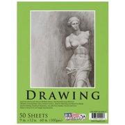 "U.S. Art Supply 9"" x 12"" Premium Drawing Paper Pad, 60 Pound (100gsm) 50-Sheets"