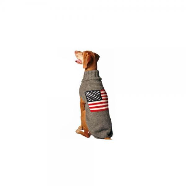 Chilly Dog American Flag Dog Sweater Large Walmart Com