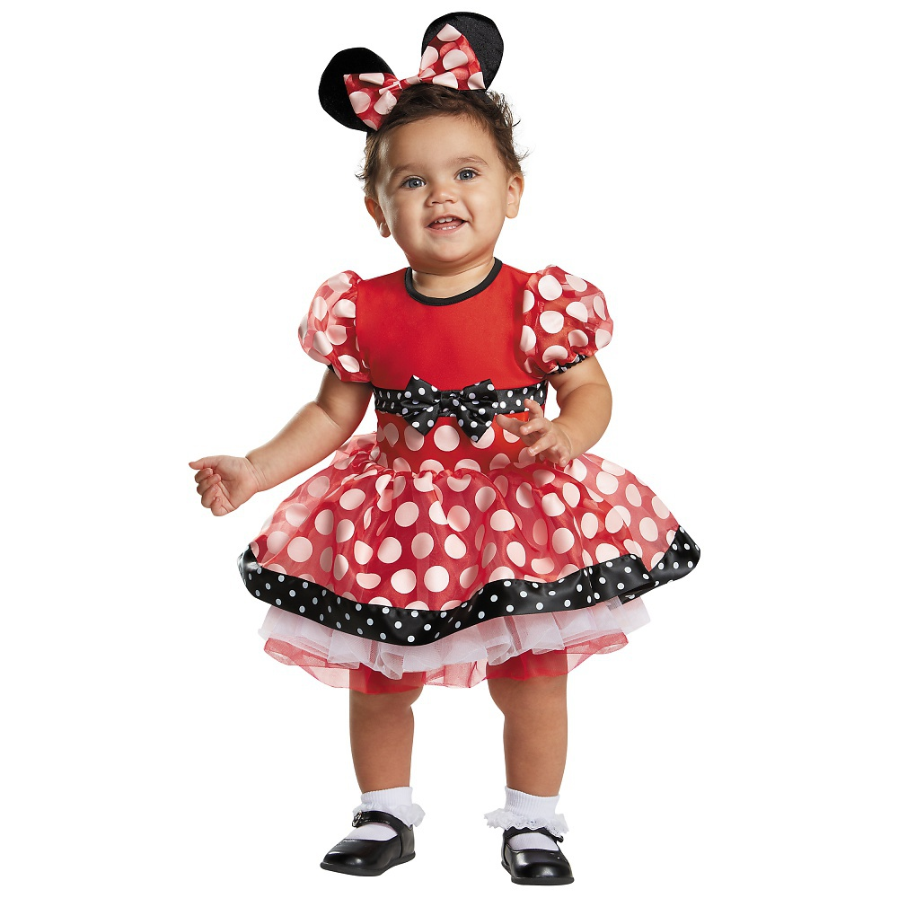 Prestige Red Minnie Mouse Baby Infant Costume Baby 6-12 by Disguise