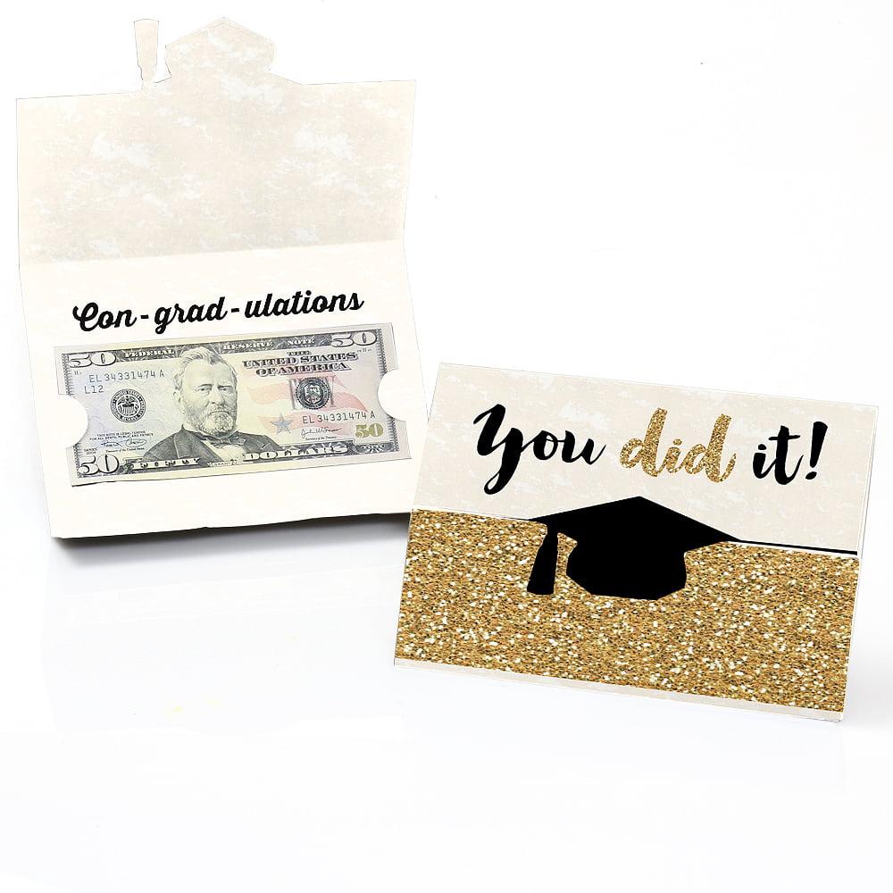 Gold - Tassel Worth The Hassle - Graduation Money Holder Cards - Set of 8