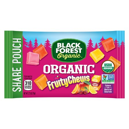 Black Forest Organic Fruity Chews  Mixed Fruit Flavored Candy  2 75 Ounce Bag  Pack Of 12