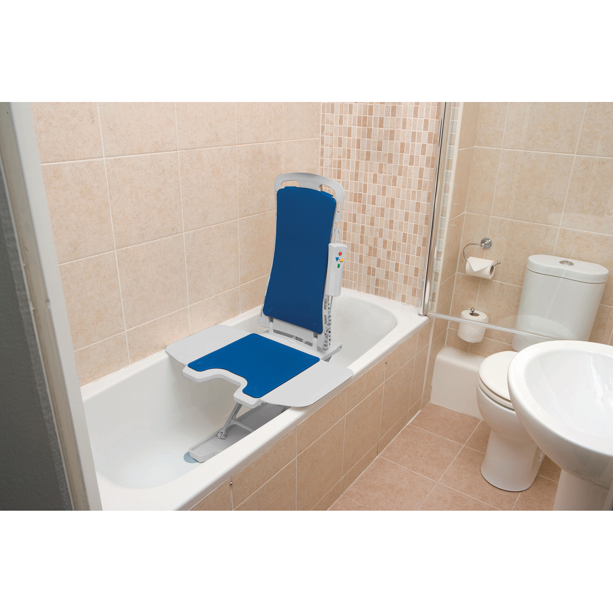 Drive Medical Whisper Ultra Quiet Bath Lift Blue Walmart
