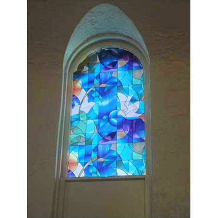 Rough Rolled Stained Glass (Dove Stained Glass Privacy Window Film 36