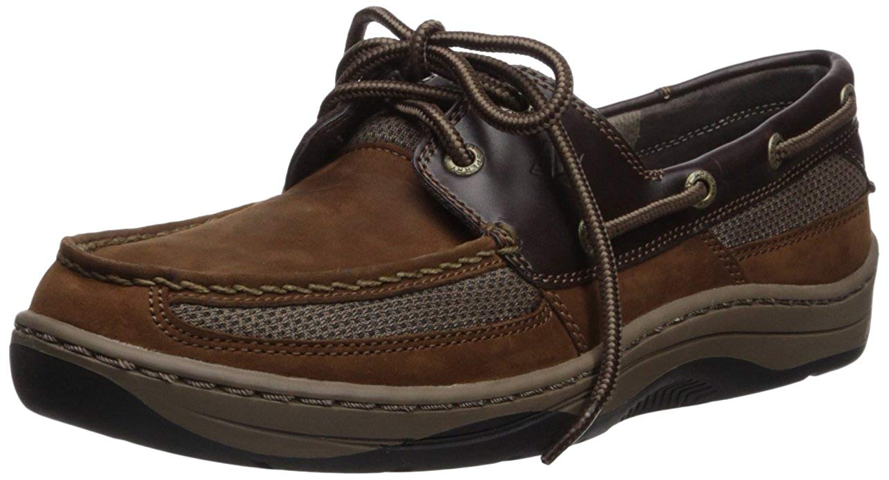 Tarpon 2-Eye Boat Shoe, BUC Brown