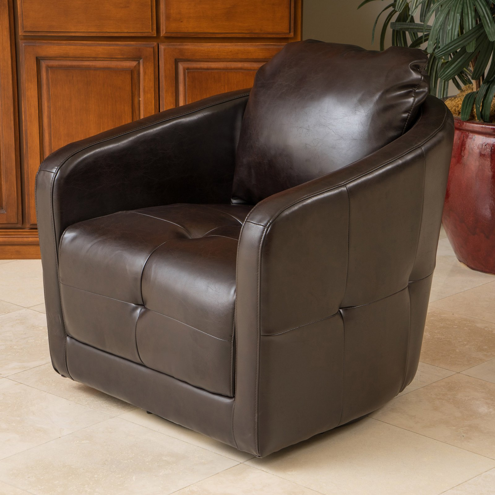 Best Selling Home Concordia Swivel Club Chair by GDF Studio