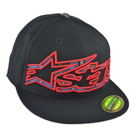 Alpinestars Mens Big Plaid 210 Fitted Hat Baseball Cap L/XL Black