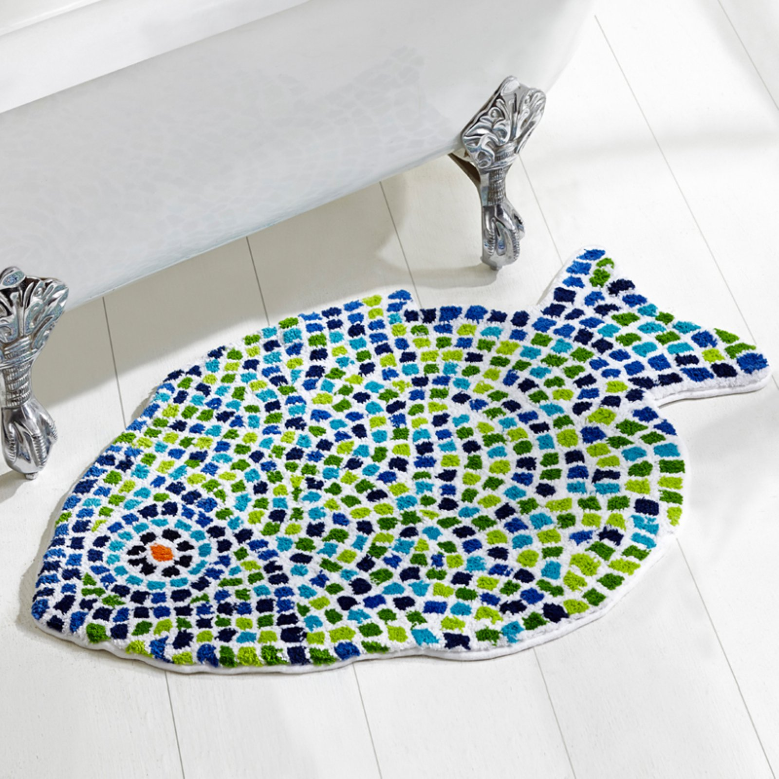 Better Trends Fish Mosaic Bath Rug