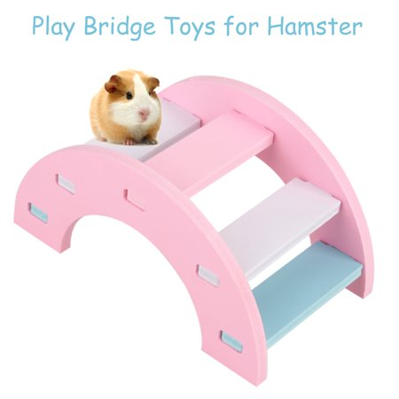 Yosoo Wooden Hamster Play Bridge Toys Rainbow Seesaw Activity Cage for Pet Guinea Pig Mice - Pig From Saw