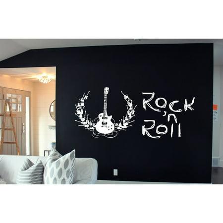 Stickalz llc Rock\'n\'Roll Guitar Sticker Wall Art - Walmart.com