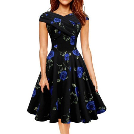 Nicesee Vintage Women Dot Dress