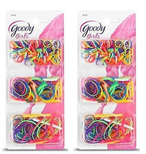 Goody Ouchless Polybands Elastics, Multi Size, - 2 Packs of 250 Count = 500 Count