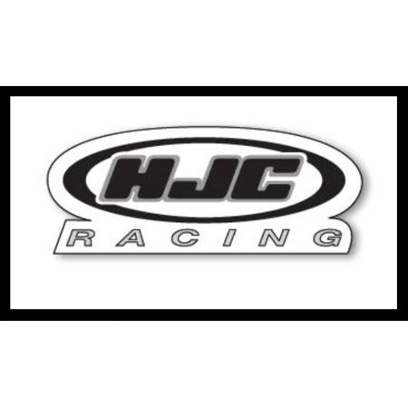 HJC Racing Decals 20 Pack White/Black