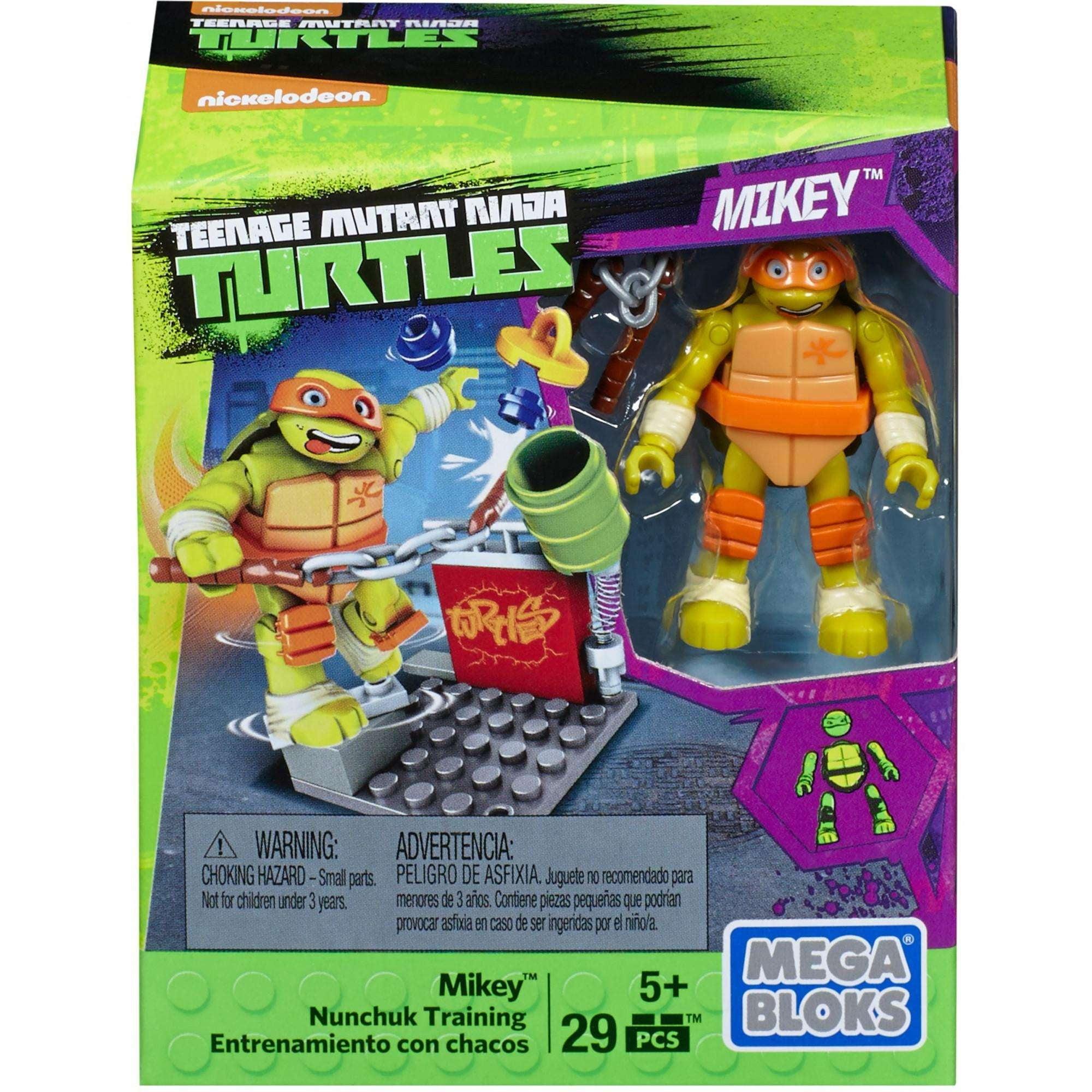 Mega Bloks Teenage Mutant Ninja Turtles Nunchuk Train Training by Mattel